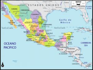 Mapa politico de Mexico